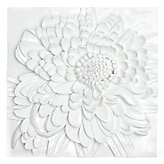 Chrysanthemum Plaque - White