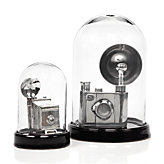Glass Bell Jar - Black