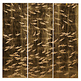 School of Fish Gold 3 Piece Wall Panel