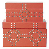 Bodega Storage Boxes Set of 2 - Flame