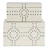 Bodega Storage Boxes Set of 2 - Sand