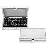 Bling Domino Set With Silver Croc Case
