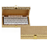 Bling Domino Set With Gold Croc Case