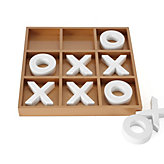 Tic Tac Toe - Gold & White