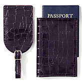 Everglades Passport & Luggage Tag Set - Eggplant