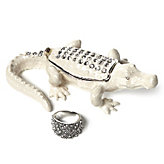Jeweled Alligator Trinket Box
