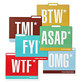 Honest Acronyms Folders - Set of 6
