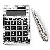 Crystal Pen & Calculator Set