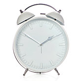 Metal Alarm Clock - White