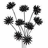 Crystal Flower Stems - Set of 3 - Black