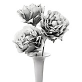 Large Village Flower - Set of 3 - Grey