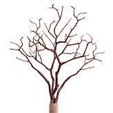 Faux Wood Twig Branch - Set of 3 - Brown