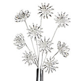 Crystal Flower Stems - Set of 3 - Clear