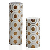 Perspective Candle - Silver/Gold