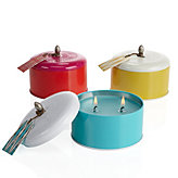 Colorblock Candle Tin