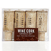 Wine Cork Candle - Set of 4