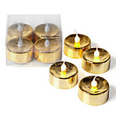 LED Tealight Set - Gold
