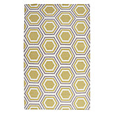 Odeon Dhurrie Rug - Grey/Citrus