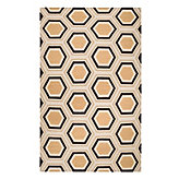 Odeon Dhurrie Rug - Chocolate/Citrus