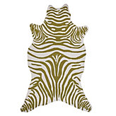 Zebra Rug - Apple Green