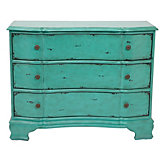 Accent 3 Drawer Chest - Crackle Aquamarine