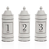 Ceramic Number Canisters