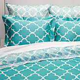 Mimosa Reversible Bedding - Aquamarine