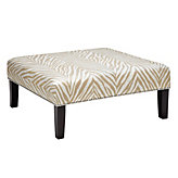 Square Cocktail Ottoman - Zebra Camel