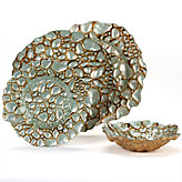 Pebble Dinnerware - Antique Turquoise Set of 4