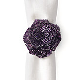 Bloom Napkin Ring - Set of 4 - Aubergine