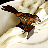 Bird Napkin Rings - set of 4