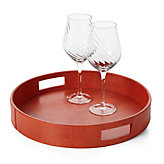Largo Round Tray - Orange