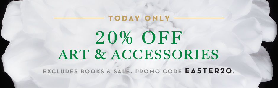 Today only, 20% off art and accessories, excluding books and sale. Promo code EASTER20.