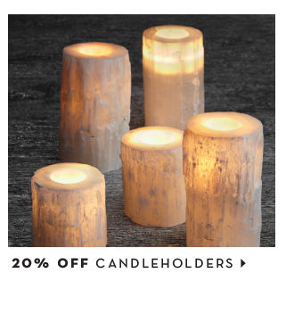 20% off candle holders