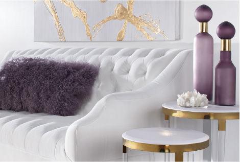 White/Gold/Amethys Livingroom