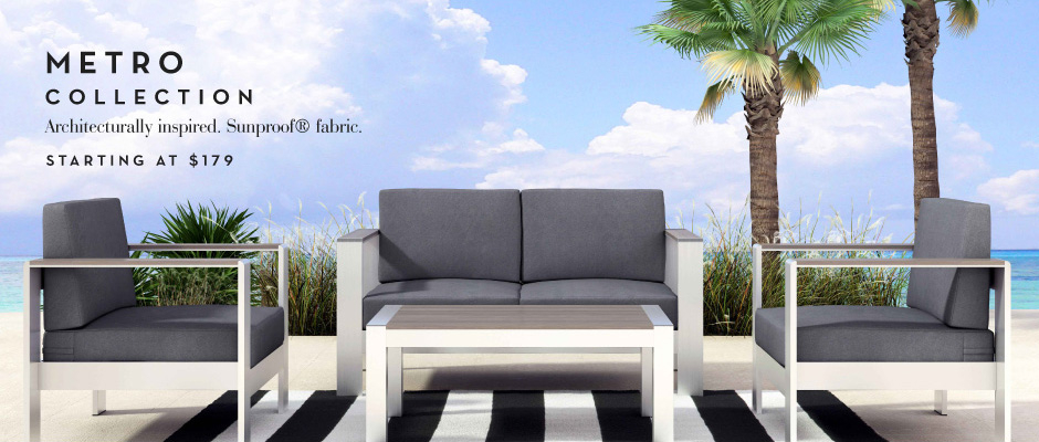 Architecturally inspired. Sunproof Fabric. Starting at $179
