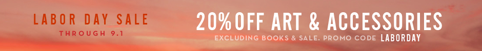 Extended one day, through 7.8. 20% off art and accessories, excluding books and sale. Promo code JULY4.