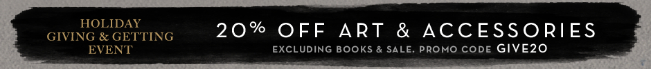 20% off art and accessories, excluding books and sale, promo code GIVE20.