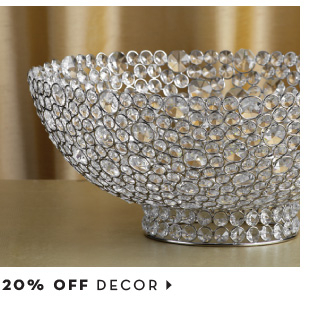 20% off decor