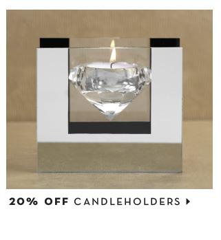20% off candleholders