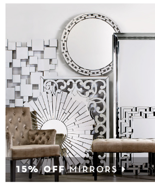 15% off Mirrors