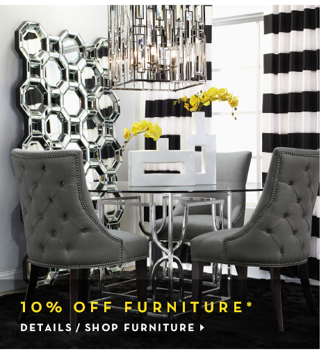 10% off furniture, see detials