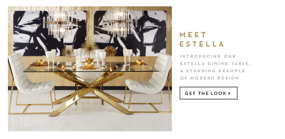 introducing our estella dining table, a stunning example of modern design. Get the look