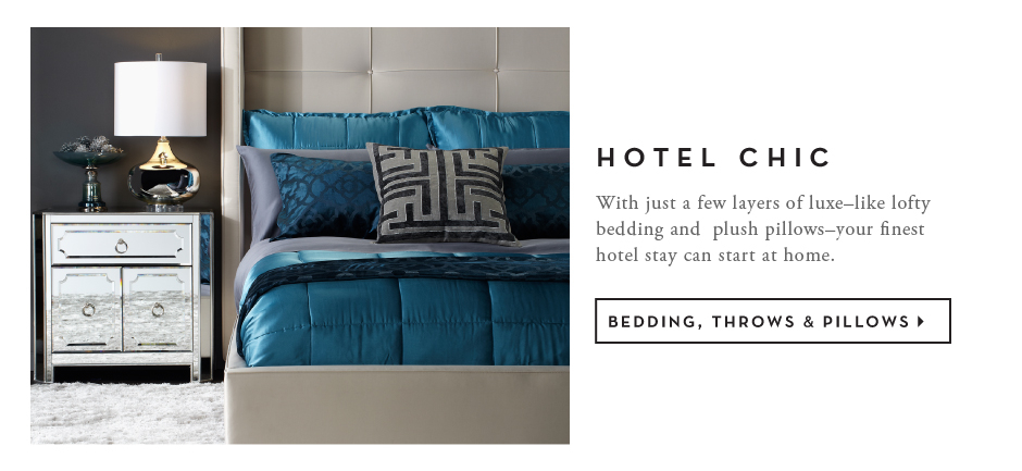 Bedding, throws & Pillows