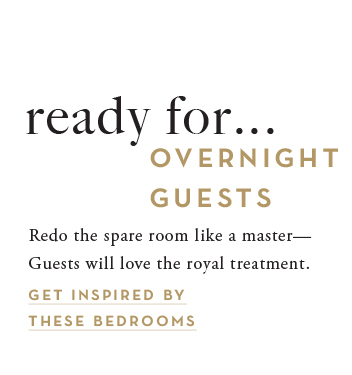 get ready for overnight guests. see all bedroom inspiration