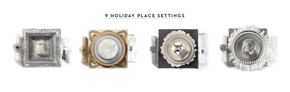 9 holiday place settings