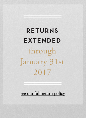 Returns extended though January 31st 2015 - see full return plicy