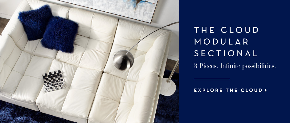 The Cloud modular sectional. 3 Pieces. Infinite Possibiliites. Explore the Cloud