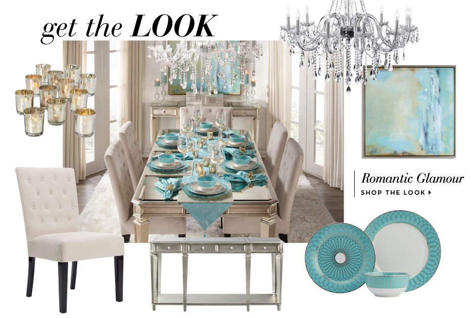 The Aqua Empire Dining Room Get the livingroom look.