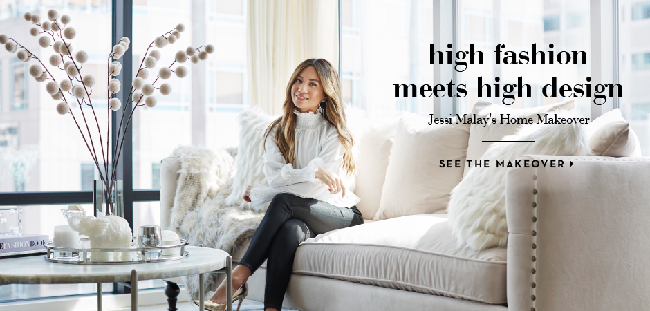 high fashion meets high design see jessi malays glamorous home makeover